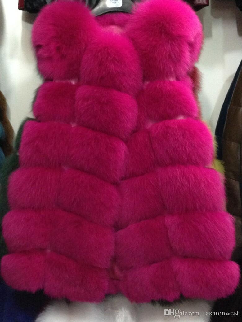Womens Hiver Faux Renard Gilet De Fourrure Gilet Gilet Manteau Gilet Outwear Gilet Femmes Gilets Chauds Outwear Long Mince Gilet Faux Renard Fourrure
