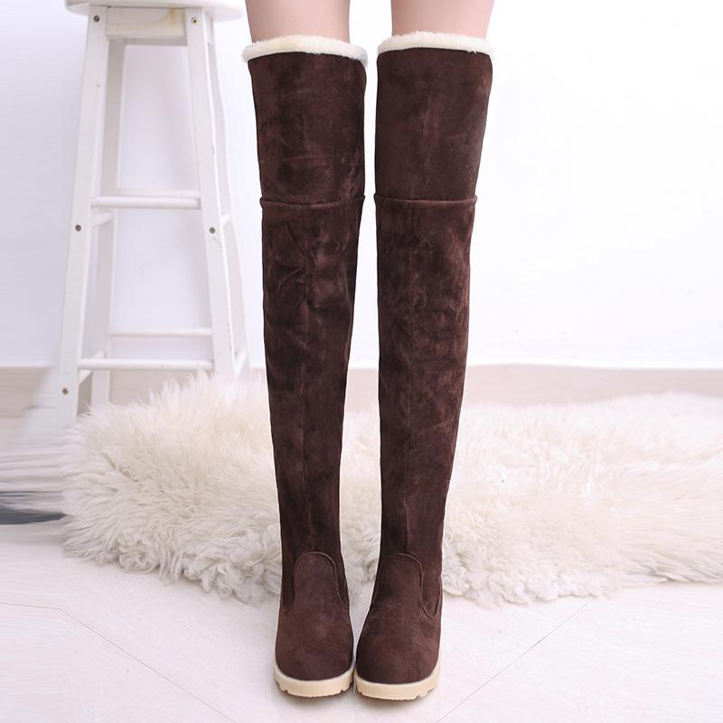5843c1c07db Winter Long Fur Snow Boots Black Women Suede Over The Knee Shoes Female  Tube Long Boots Tenis Feminino Zapatos Mujer Bootie Buy Shoes Online From  ...
