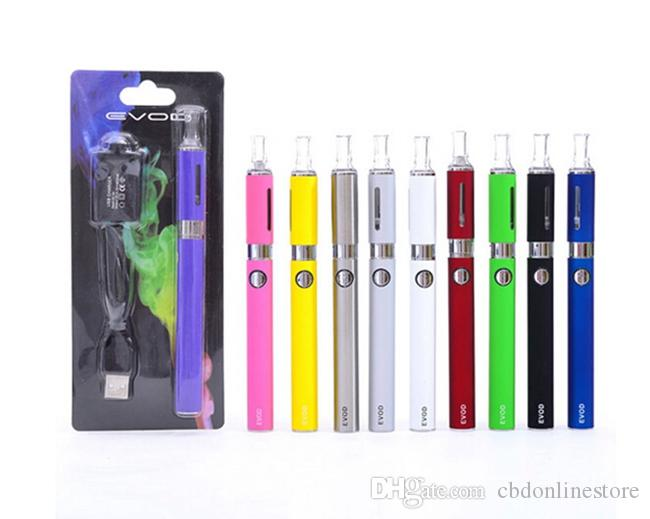 MT3 EVOD Starter Kit Blister Package Electronic Cigarette 650mAh/900mAh/1100mAh Battery MT3 Atomizer Vaporizer Clearomizer AllColors DHLFree