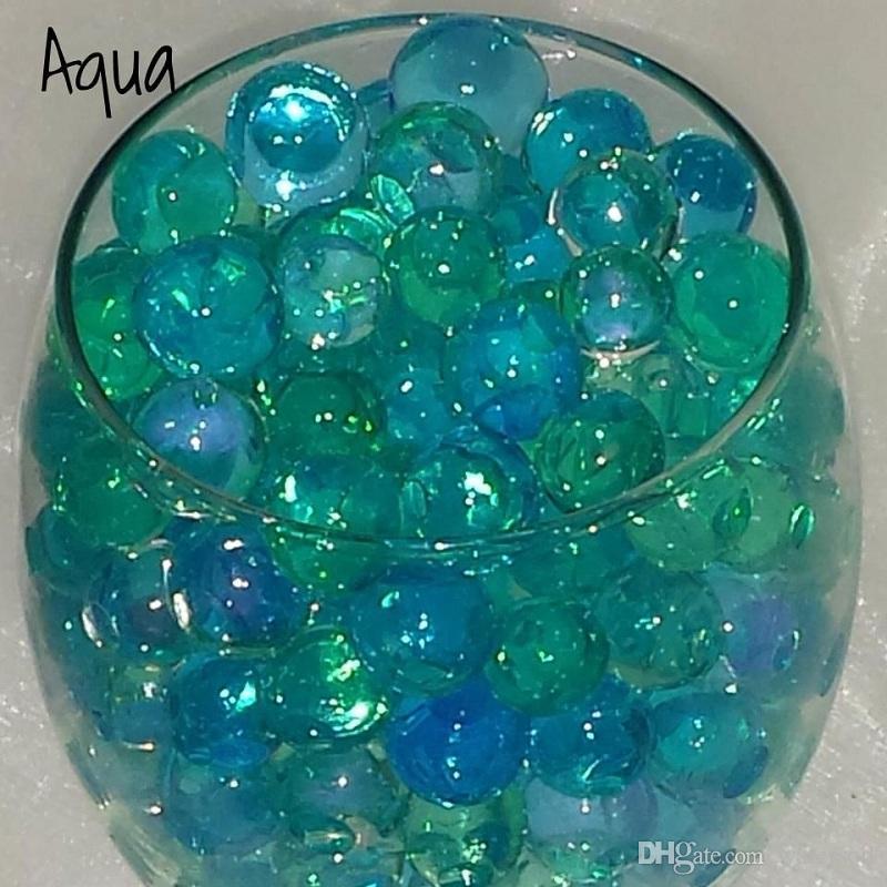 For U Pick! 500gWholesale 2.5-3mm Pearl Shaped Crystal Soil Water Beads Mud Growing Magic Jelly Water balls wedding Home Dec