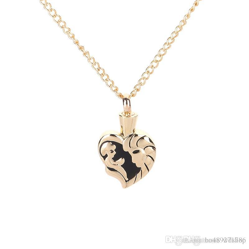 Heart Shape With Baby Mother Design Memorial Cremation