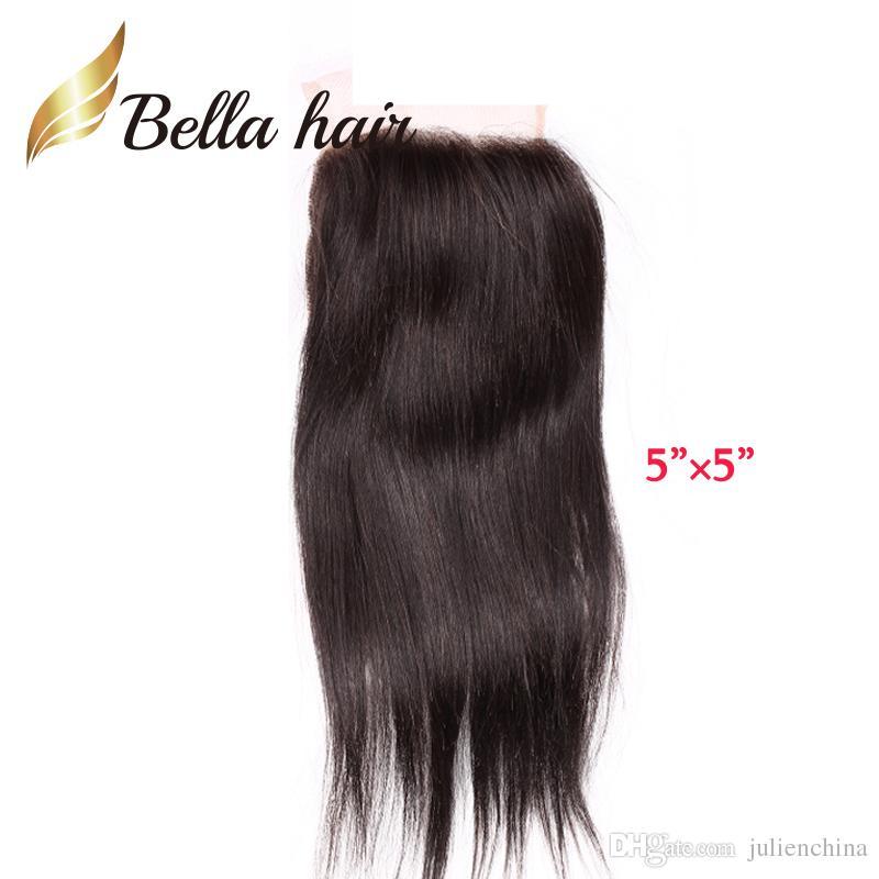 5 * 5 6 * 6 encerramento rendas rendas virgem cabelo humano brasileiro peruano indiano Malásia Bellahair