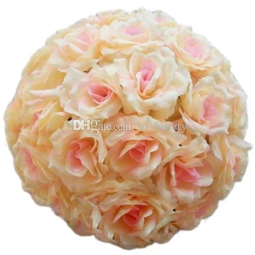 15cm Artificial Silk Rose Pomander Flower Balls Wedding Party Bouquet Home Decoration Ornament Kissing Ball Hop