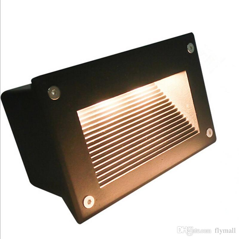 160*110mm Recessed Led Floor Lights 3W 5W Stair Lighting Led Step Light Waterproof Outdoor Recessed Wall Light Lamp 110-130lm/W SMD5730