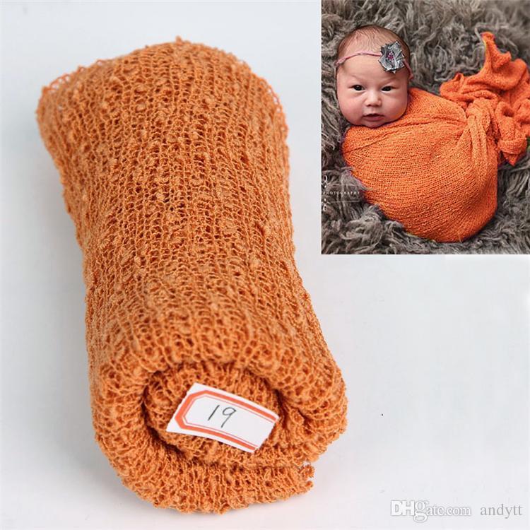Vente en gros - Vêtements bébé bébé nouveau-né de couleur unie vêtements bébé doux photographie vêtements vêtements bébé confortable enveloppé de tissu A0522