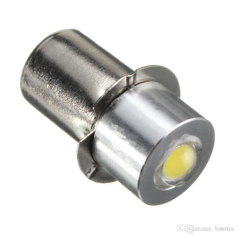 Mais novo P13.5S PR2 1 W LED Lanterna Para Interior Da Bicicleta Tocha Spot Lâmpada Bulbo de Alto Brilho 90Lumen DC3-18V Branco Puro Quente