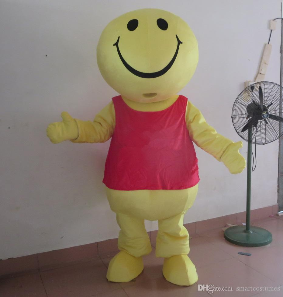 SX0727 Good vision and good Ventilation happy face yellow round head mascot  costume for adult to wear