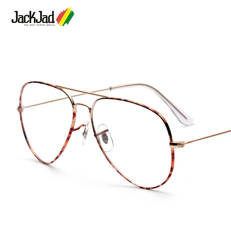 d3f2c6d019f Wholesale- JackJad 2017 Fashion Vintage Classic Style Plain Glasses Brand  Design Gold Metal Camouflage Eyewear Frame Oculos De Grau Oculos De Grau  Plain ...