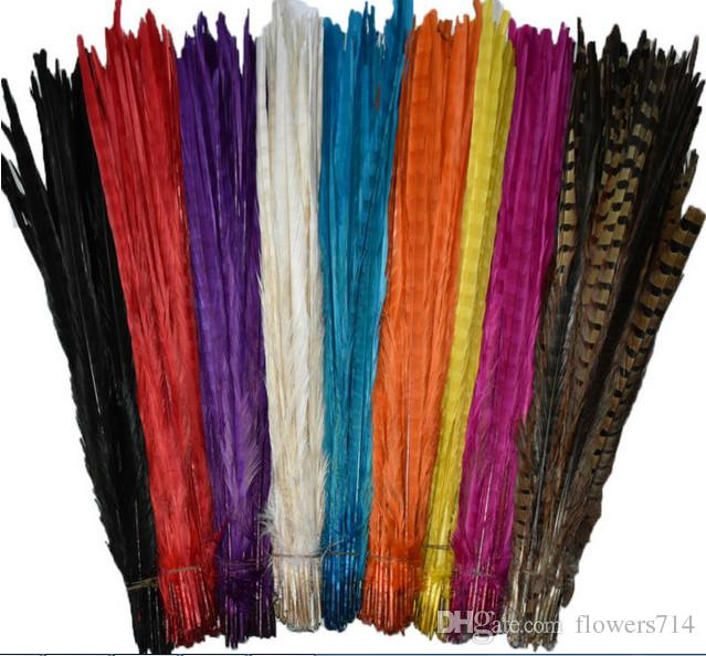 100pcs high quality high quality natural pheasant feathers 16-18 inches / 40-45cm home decoration wedding center focus