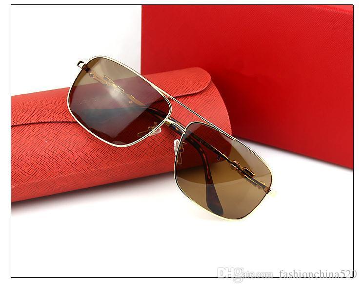 High-End-Marke Sonnenbrille mit der inneren Beschichtung Polarisator männlichen Leoparden Kopf Box Sonnenbrille nach Europa und den Vereinigten Staaten Männer und Frauen