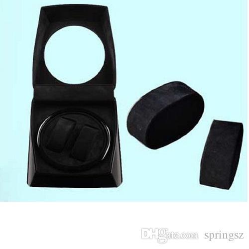 Jebely Dual 2 Uhrenbeweger Diplomat Box Aufbewahrungsbox Timer Schwarz Dual Automatik JA075- Schwarz