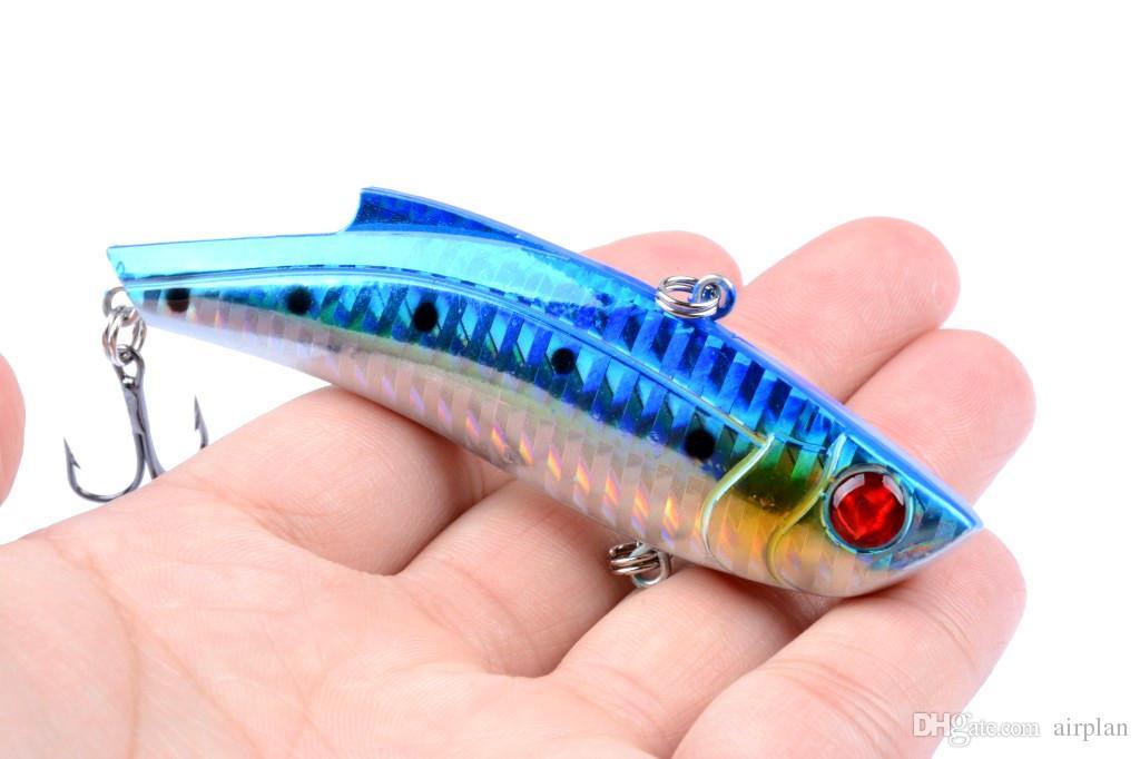 미끼 낚시 유혹 미끼 9cm / 26.5g vib 플라스틱 바다 낚시 미끼 Wobbler 가짜 미끼 물고기 Pesca 태클 후크의