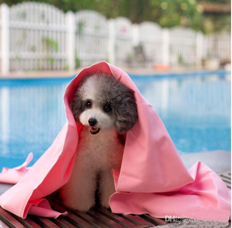 43x32cm Pet Dog Cat absorbant serviette Couverture douce chiot nettoyage baignade serviettes à séchage rapide multifonctionnel voiture linge de toilette chien toilettage