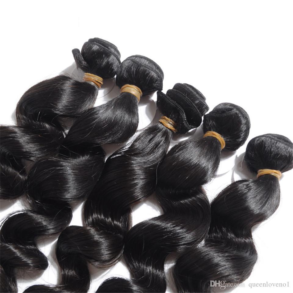 Malezya Gevşek Dalga İşlenmemiş İnsan Örgüleri Bakire Saç Remy İnsan Saç Uzantıları Boyanabilir 3 adet / grup Hiçbir Dökülme arapsaçı Ücretsiz