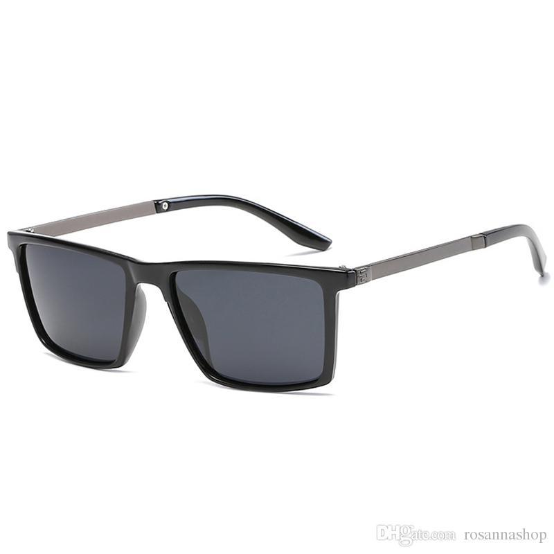 bdbdb7e516 Polarized Men Sunglasses Mirror Oversized Black Square Driver Fishing Sun Glasses  Sports HD Lens Womens Designer Mens YW027 Glasses For Men Mens Eyeglasses  ...