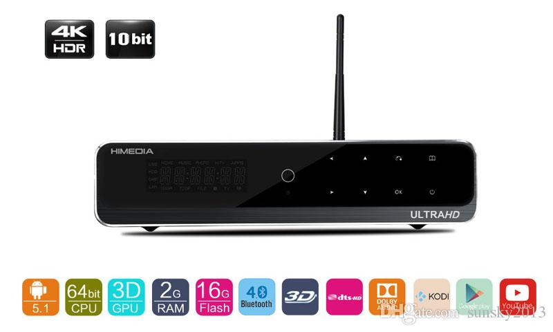 Android 7.1 Smart TV Box 4K Ultral Output Streaming H.265 Media Player 2GB 16GB Mini PC Bluetooth 2.4G/5G Wifi Himedia Q10 Pro Dolby Plus 3D