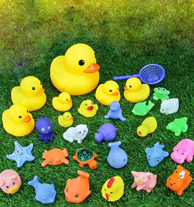 / mini Baby toys baby nuoto anatra bagnata Water duck giocattolo bambini giocattolo genitore-bambino giocattolo di comunicazione