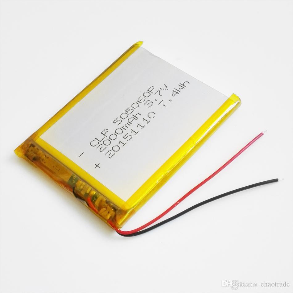 Model 505060 3.7 V 2000 mAh Li Polimer Lityum Şarj Edilebilir Pil Için yüksek kapasiteli hücreleri DVD PAD GPS güç bankası Kamera E-kitaplar Kaydedici