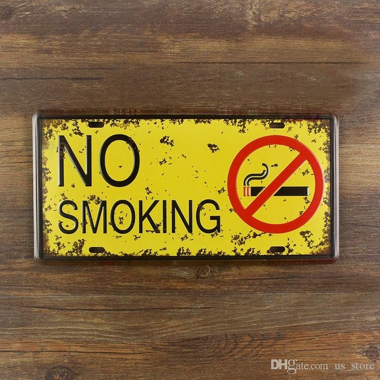 2018 Metal Painting No Smoking Wall Art Decor Poster Iron Plate ...