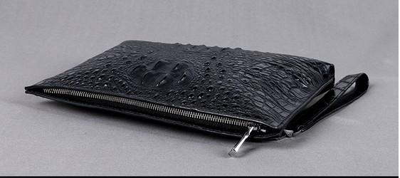 Männer Handtaschen echtes Krokodil Leder weich robust Männer Kleinunternehmen Clutch 29cm breit super großes Volumen