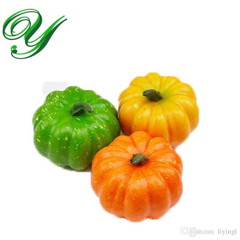Foam pumpkins artificial plants plastic and foam for Artificial fruit for decoration