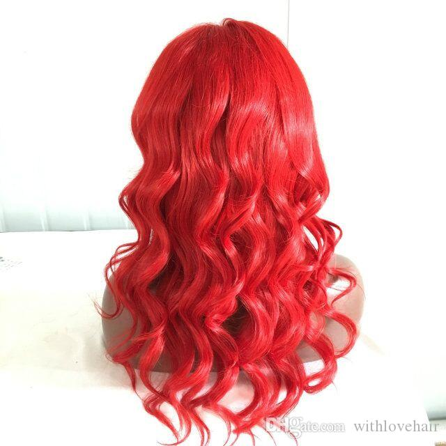 Brazilian Human Hair Wigs Body Wave Red human hair Wigs Red Lace Front Wig Lace Wig In Stock