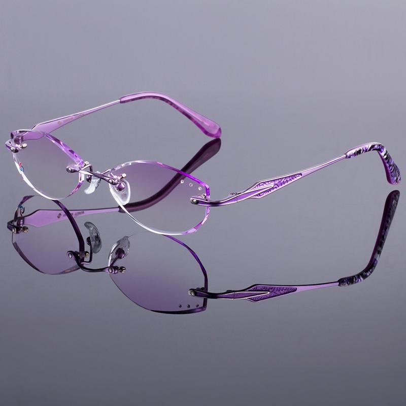 a061d60c173 Wholesale- Attractive Women Titanium Alloy Glasses Frame Women ...