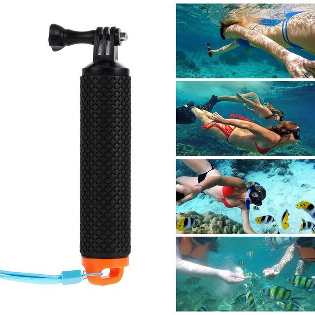 New Arrival Underwater Camera Float Hand Grip Mount Anti Slip Gopro Floating Bobber Floaty Handheld Stick For Go Pro Xiaomi Yi Sjcam Sj4000 Action