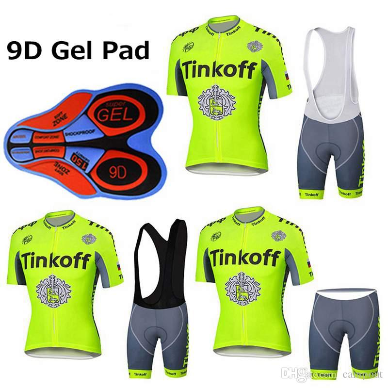 Yellow Fluo Cycling Jersey + 9D Gel Padded Bib Shorts Set Pro Team Cycling  Clothing Size XS-4XL MTB Maillot Ciclismo Cycling Jerseys Sets Bike Wear  MTB Ropa ... e2660a356