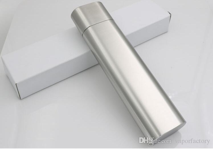 en acier inoxydable double argent 2 tubes de cigares de voyage de voyage coiffe de tabac cigarette porte-cigarette tige de cigare tuyau de conduite boîte gadgets