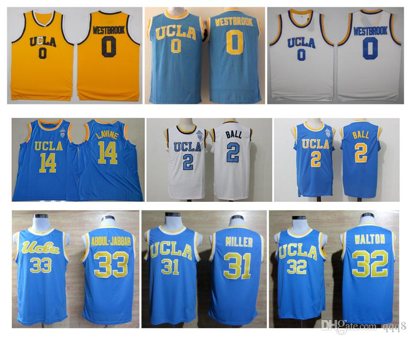 8b8da06ad46 ... spain 2017 ucla bruins college basketball jerseys 0 russell westbrook 2  lonzo ball jersey 14 zach