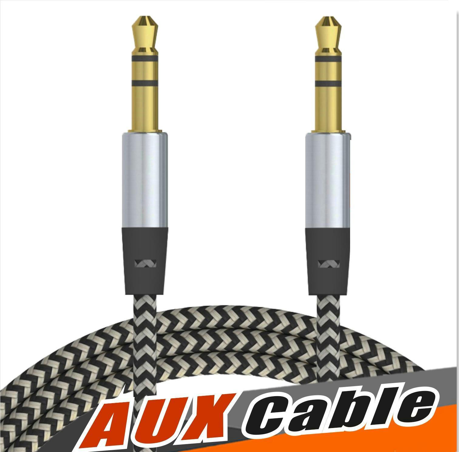 Aux Braid Audiopケーブル3.5mmの男性の男性のステレオのオーディオコードワイヤー1M 3FTケーブルのための3フィートのケーブルはサムスンLG HTCの携帯電話MP3プレーヤーOM-I5