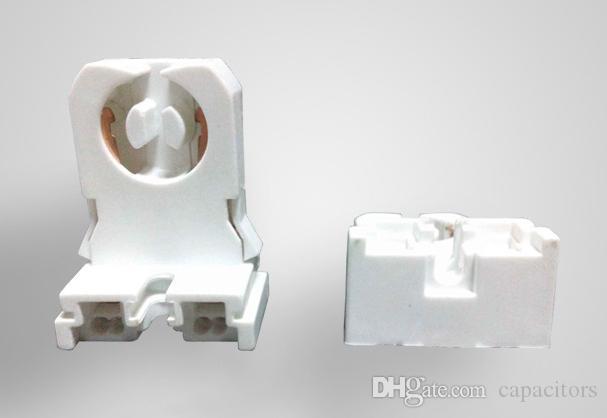 UPS DHL FEDEX Livre Não-shunted T8 Suporte Da Lâmpada Lápide para LED Tubo Fluorescente Substituições Turn-tipo Lampholder Médio Bi-