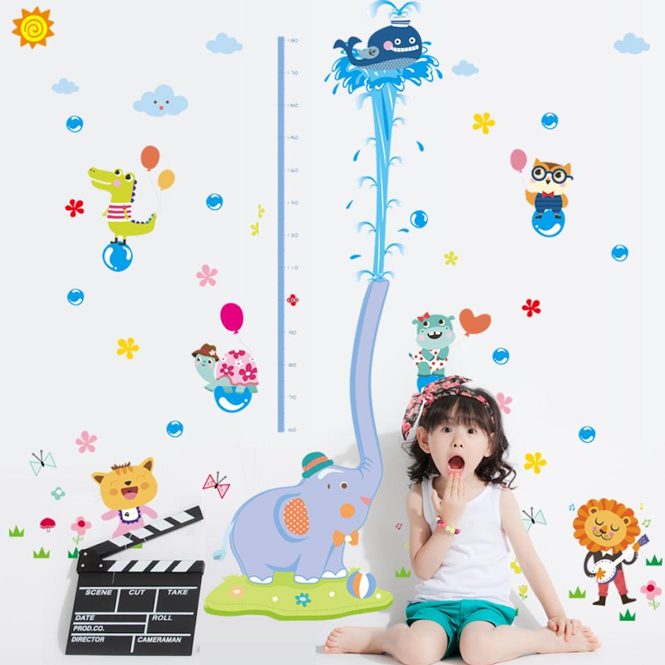 Large size height chart wall stickers for kids room decorations large size height chart wall stickers for kids room decorations cartoon decals wall art diy children sticker pegatinas de pared quote stickers for wall amipublicfo Gallery