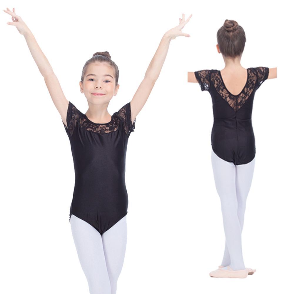 8e8b31131493 2019 Shiny Nylon/Lycra Ballet Leotard With Lace Cap Sleeve Girls Dance  Costume Kids Gymnastics Dancewear Full Sizes From Wendywandance, $8.55    DHgate.Com