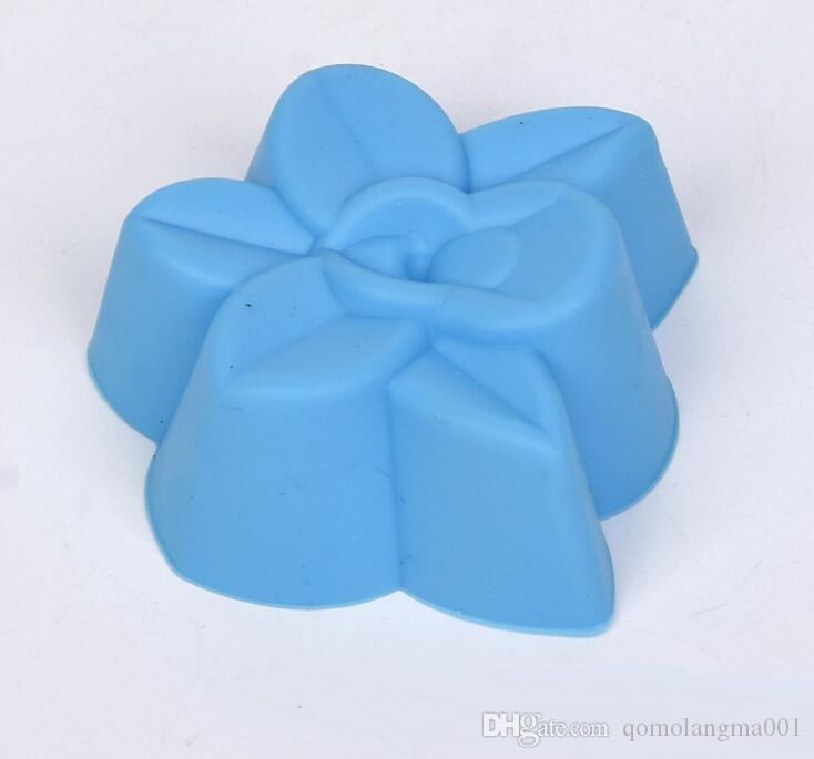 Sıcak Satış DIY Silikon Orkide Çiçek Şekli Kek Kalıp 5 cm Boyutu Çörek Çikolatalı Kek Pişirme Fincan Kalıp