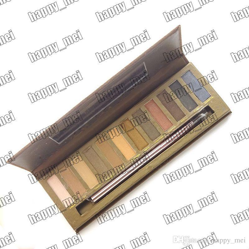 شحن مجاني epacket! جديد ماكياج عيون عارية 1/2/3/4/5 / Smoky Palette 12 لون ظلال العيون مع صندوق وفرش!