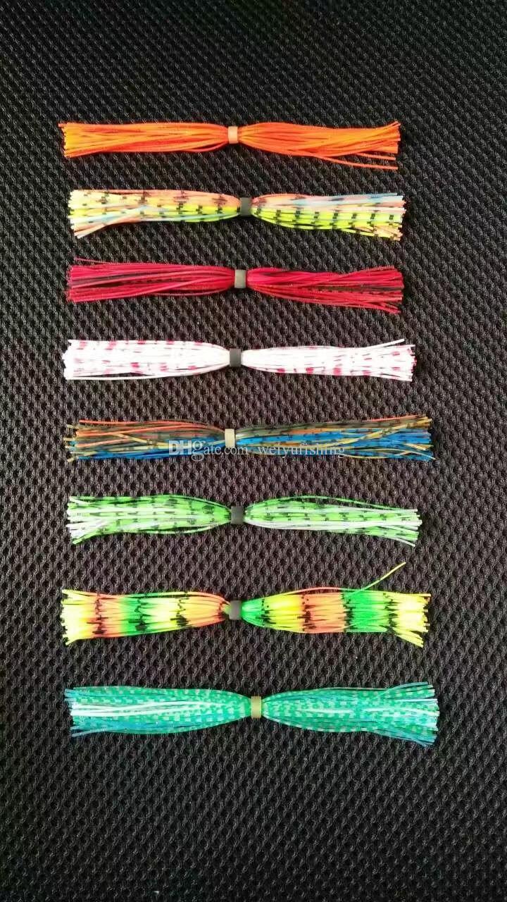 Weiyu Silikon veya PVC Etek Spin Balıkçılık Lures Spinnerbaits Buzzbaits Kauçuk Jig Karışık Renk