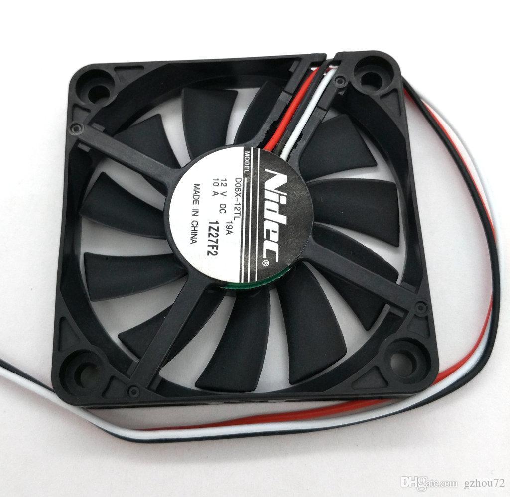 Nowy oryginalny NIDEC D06X-12TL DC12V 0.10A 60 * 60 * 10mm 6 cm wentylator chłodzący komputer