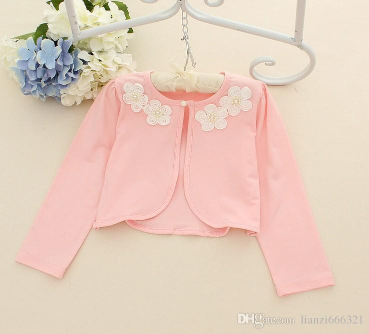 Hot Sale Ivory/Pink Bolero Shrug Short Cardigan For Bridesmaids ...