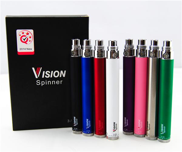 510 Penna VAPape Vision Spinner Batteries + Caricabatterie USB 650 900 1100 1300 MAH Sigarette Electronic Sigarettes Sigari EGO Twist 3.3V-4.8 V Tensione variabile EGS