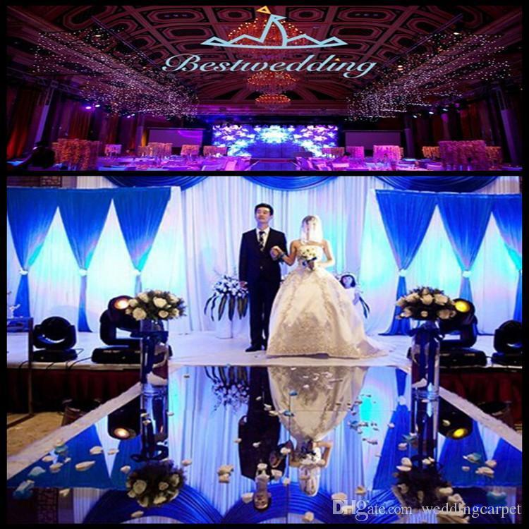 New Arrival 1.2m Wide 10m Shiny Wedding Centerpieces Decor Runner Aisle Silver Plastic Mirror Carpet