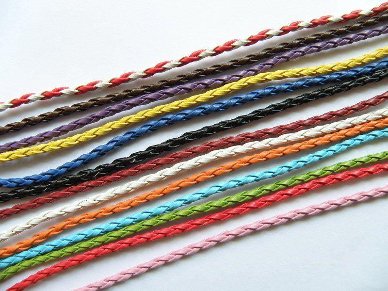 couleurs gros femmes bracelet cuir charme 23cm long mix mode populaire bracelet chanceux bijoux pas cher