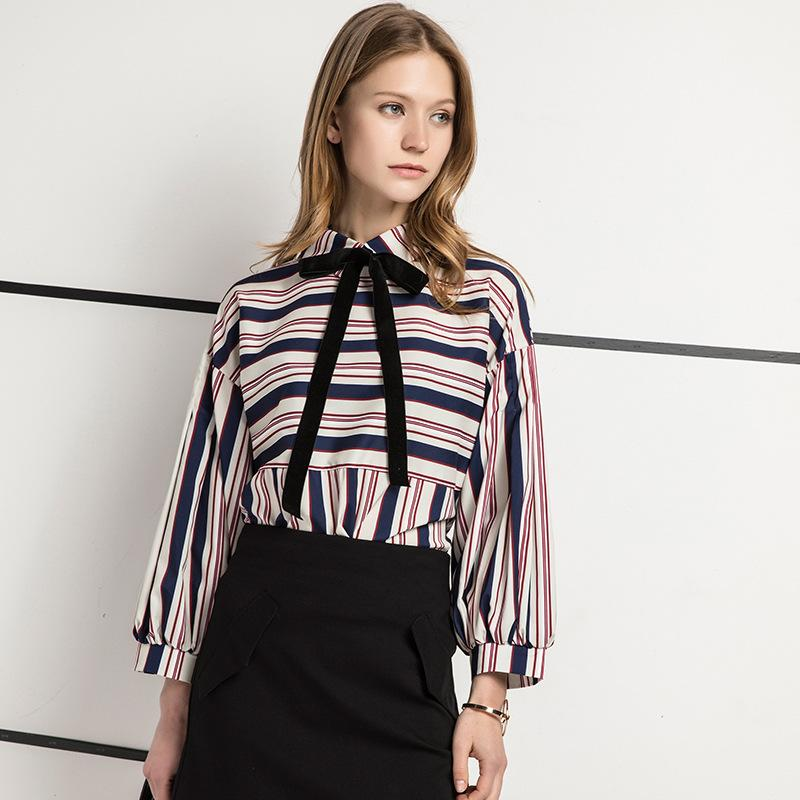 Satın Al Kadın Bluz 2017 Yeni Yaz Uzun Kollu Gömlek Kadınlar