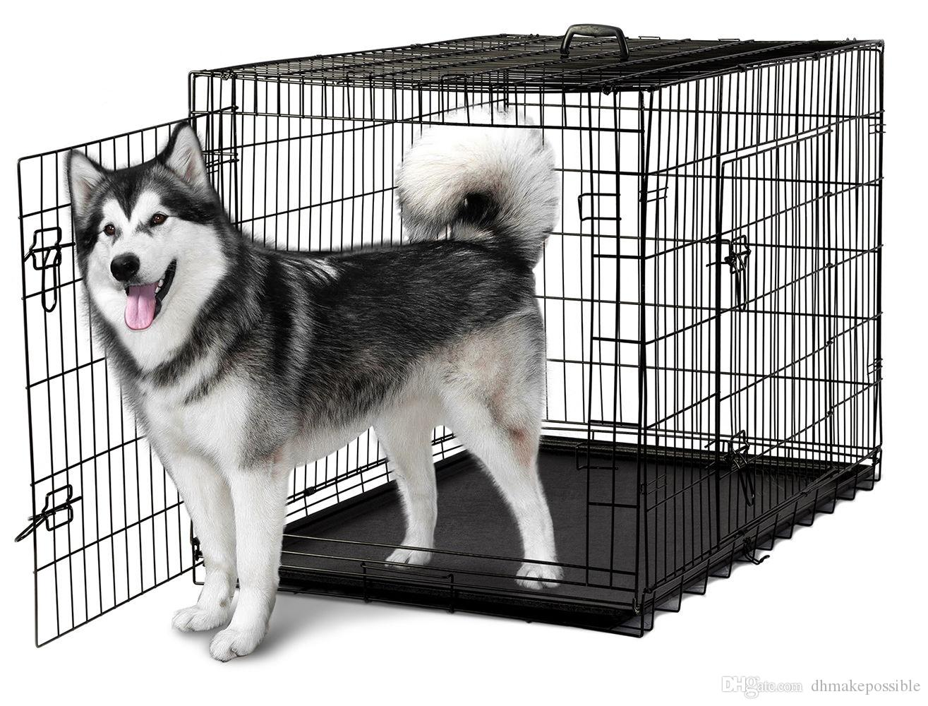 2019 48 2 Doors Wire Folding Pet Crate Dog Cat Cage Suitcase