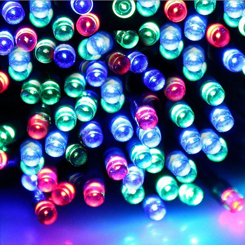 Umlight1688 Solar Lamp LED Christmas Lights 6V 12M 100leds Fairy String Lights Led Outdoor Lighting 8 Modes Waterproof For Garden LightStrip