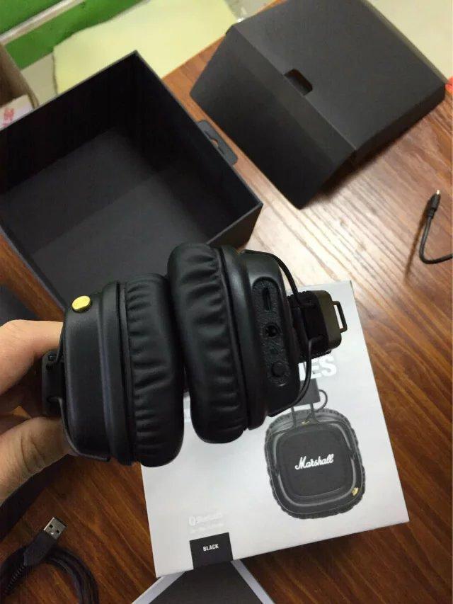 مارشال الرئيسي الثاني 2.0 سماعات بلوتوث لاسلكية في الأسود DJ سماعات استوديو ديب باس عزل الضوضاء وسماعة لفون سامسونج