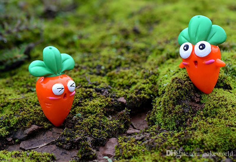carota bambole figurine in miniatura terrario bonsai mestiere della resina fairy garden gnome Micro paesaggio decoracion jardin