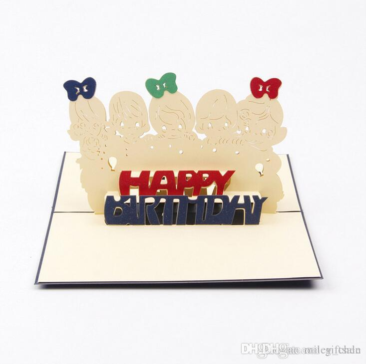 Creative 3D Pop UP Gift Happy Birthday Cards Friends Greeting For Free Greetings Online From Giftsale
