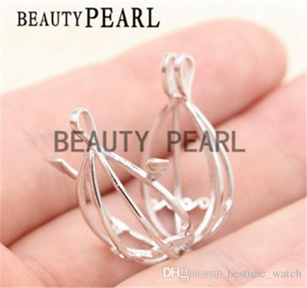 Bulk of Small Locket Love Wish Pearl 925 Sterling Silver Jewellery Angel Wing Cage Pendant
